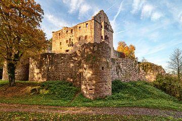 Ruine du Minneburg en automne sur Uwe Ulrich Grün