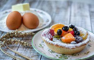 Fruittaartje met ingrediënten van