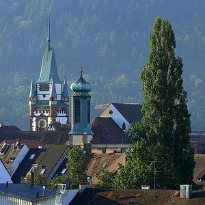 Torens en torentjes in Freiburg