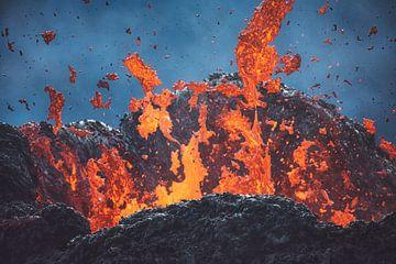 IJsland Geldingadalir Lava in de krater van Jean Claude Castor