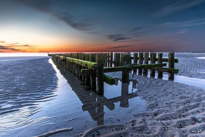 Zonsondergang Zeeland van Linda Raaphorst