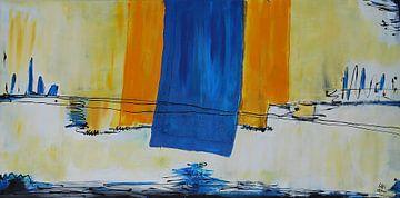 Gelb Blaue Fahnen von Klaus Heidecker
