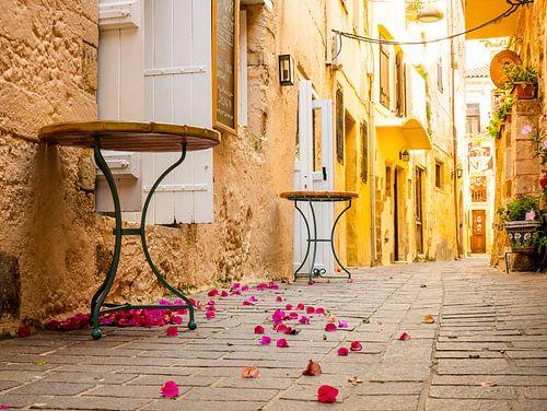 Steegje in Chania, Griekenland