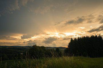 Zonsondergang in de natuur van Thilo Wagner