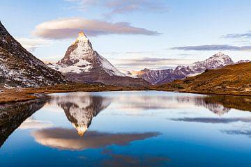 Le Cervin au lever du soleil en Suisse sur Werner Dieterich