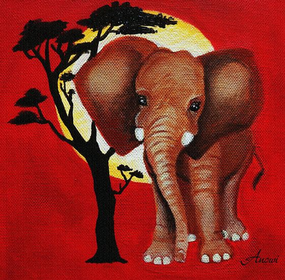 Baby Elephant van Iwona Sdunek alias ANOWI