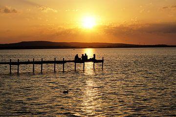 Sonnenuntergang am Steinhuder Meer von Axel Bückert