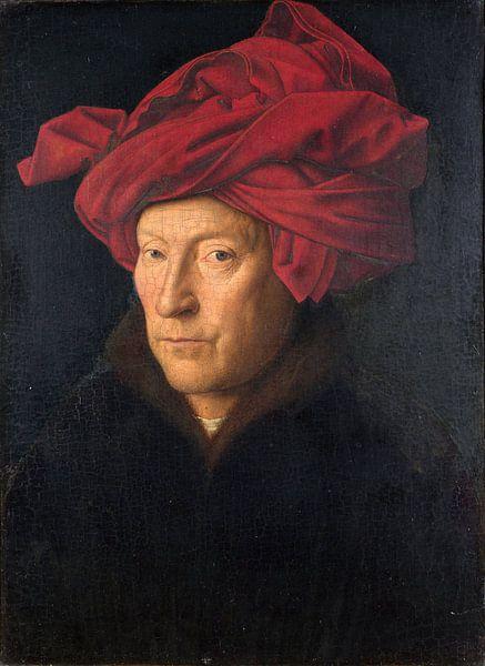 Jan Van Eyck - Portret van een man van 1000 Schilderijen