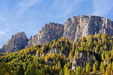 Dolomitenfelsen in der Abendsonne - Herbst in Südtirol von Gisela Scheffbuch