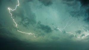 Abstracte foto van een bliksemschicht