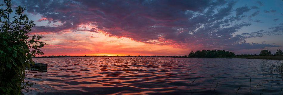 Loosdrecht bij zonsondergang van Robin Pics