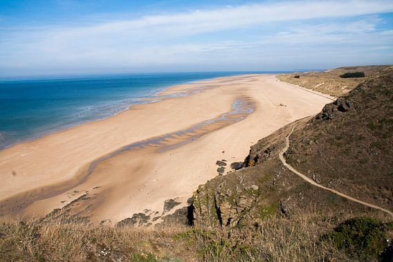 Cap Carteret, schitterend strand in Normandië in Frankrijk