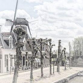 Het dorp Sloten in Friesland van Dick Jeukens
