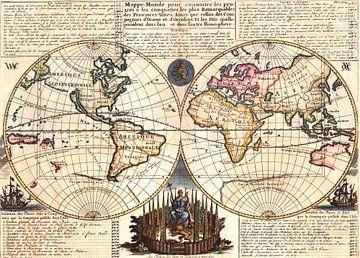 Vintage Weltkarte anno 1728 von Emma Kersbergen