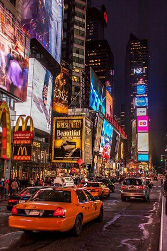 New York Times by night van