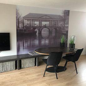 Klantfoto: De Koornbrug in Leiden van Martijn van der Nat, als naadloos behang