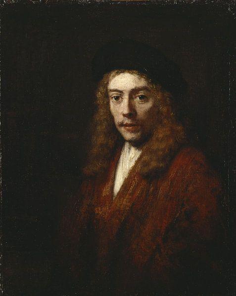 Ein junger Mann, vielleicht der Sohn des Künstlers Titus, Rembrandt van Rijn. von Rembrandt van Rijn