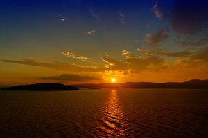 zonsondergang noorwegen van