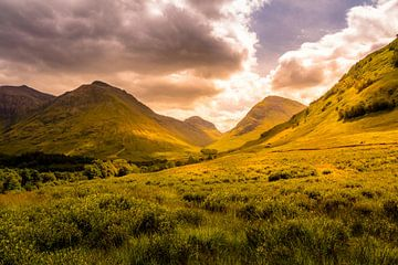 Glencoe Valley, Schotland von Dennis Wardenburg