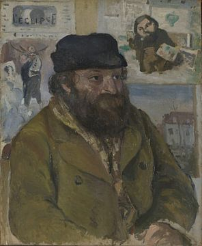 Camille Pissarro, Porträt von Paul Cézanne, 1874 von Atelier Liesjes