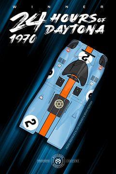 Winnaar 24 uur van Daytona 1970 van Theodor Decker