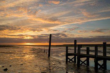 Zonsondergang op het Wad von Jos de Vos