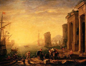 Morgens im Hafen, Claude Gellée