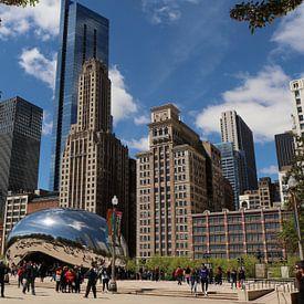 Chicago Skyline und das Cloud Gate von Christiane Schulze