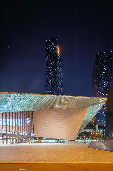 Rotterdam Centraal met de Delftse Poort (staand) von John Verbruggen