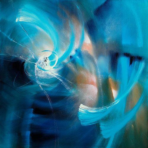 Blauer Lichtertanz von