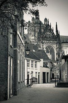 In den Boerenmouw Den Bosch, mit Blick auf Sint Jan von Den Bosch aan de Muur