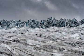 Flaajokul-Gletscher, Island von Herman van Heuvelen