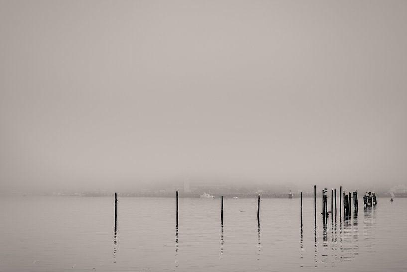 Mistige haven van Peter Vruggink
