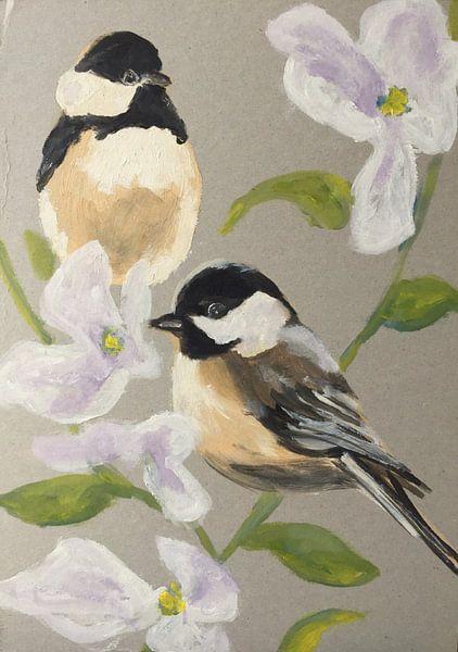 Zwischen den Blüten von Helia Tayebi Art