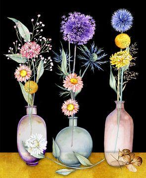 Fleurs séchées en vase sur Geertje Burgers