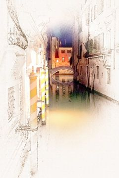 Venetië 03 van Erich Krätschmer