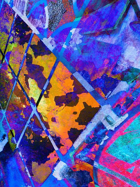 Modern, Abstract kunstwerk - The Imaginary World Outside (Rechts) van Art By Dominic