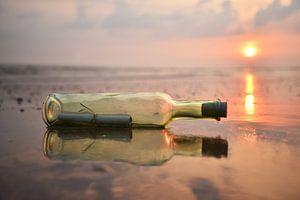 Flessenpost of message in a bottle
