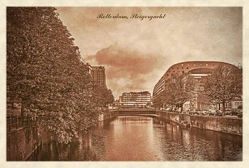 Oude ansichten: Rotterdam Steigergracht van Frans Blok