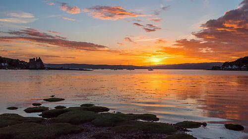 Zonsondergang met Schots kasteel van