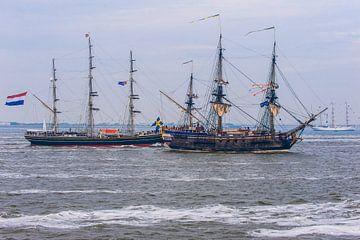 De Stad Amsterdam begroet de deelnemers aan Sail den Helder