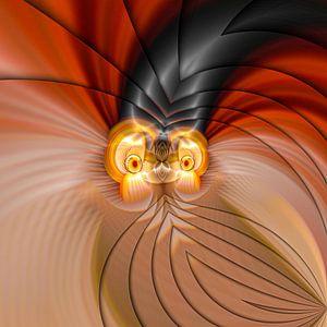 Phantasievolle abstrakte Twirl-Illustration 109/29