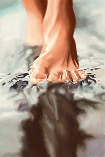 Marcher sur l'eau sur Kim Verhoef