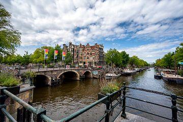 Panorama op de Brouwersgracht/Prinsengracht van Peter Bartelings Photography
