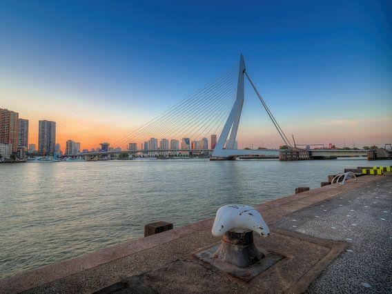 De Erasmusbrug, Rotterdam, Nederland van Jan Plukkel