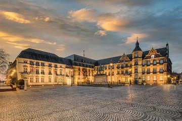Stadhuis en marktplaats Düsseldorf van Michael Valjak