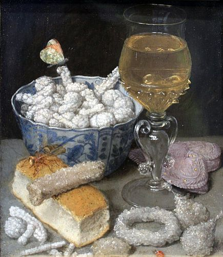 Georg Flegel. Stilleven met Brood en Zoetwaren van 1000 Schilderijen