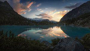 Morgenruhe in den Dolomiten