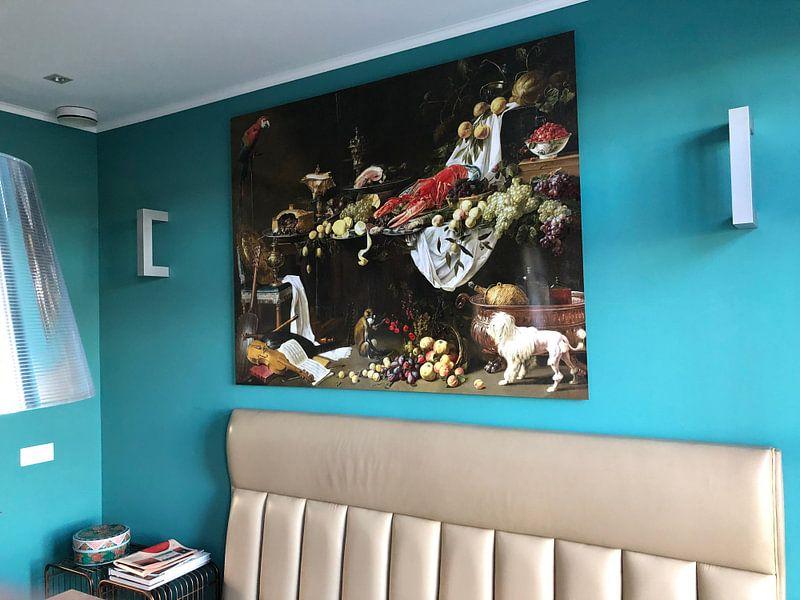 Photo de nos clients: Adriaen van Utrecht. Stil life sur 1000 Schilderijen, sur aluminium