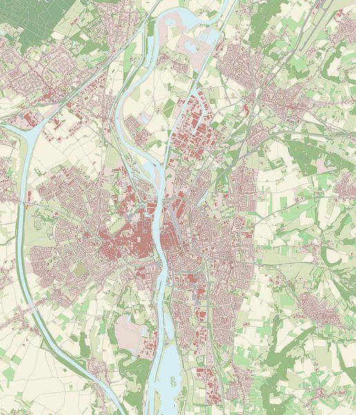 Kaart vanMaastricht